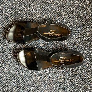 """Robert Clergerie Paris black shoes. 2"""" lift."""